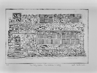 Kitchen with Motif – The Folly, Settle – Drypoint (20cm x 30cm)