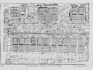 South Parlour with Motif – The Folly, Settle – Drypoint (20cm x 30cm)