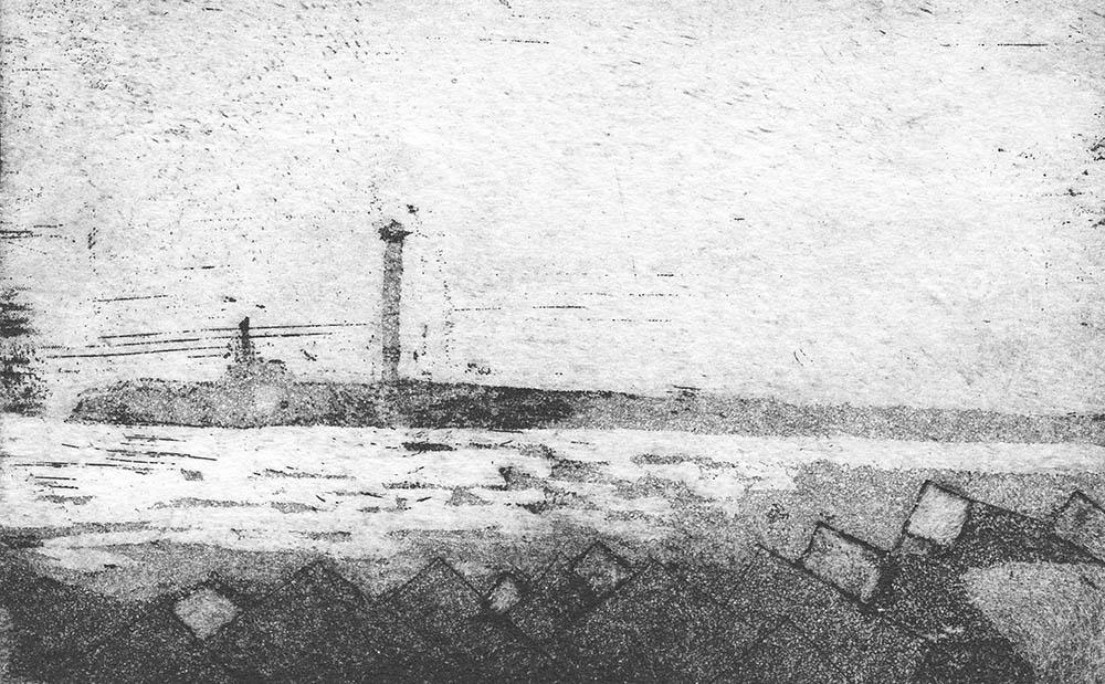 Lighthouses, Lanzarote - Etching & Aquatint
