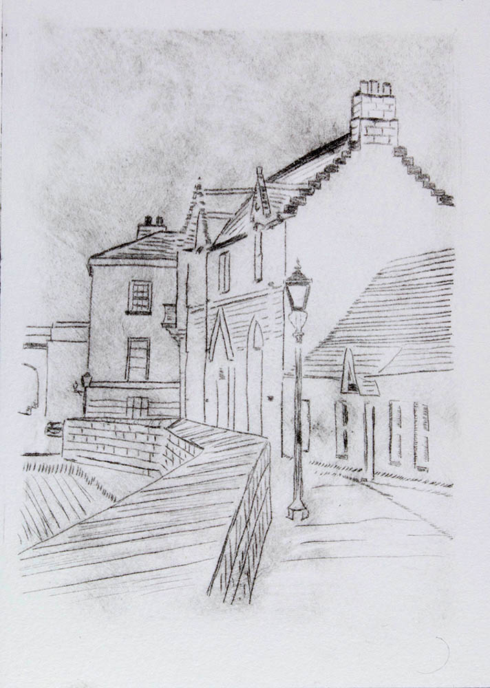 Berwick on Tweed - Drypoint